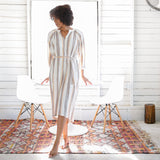 GINNY DRESS | 70's stripe
