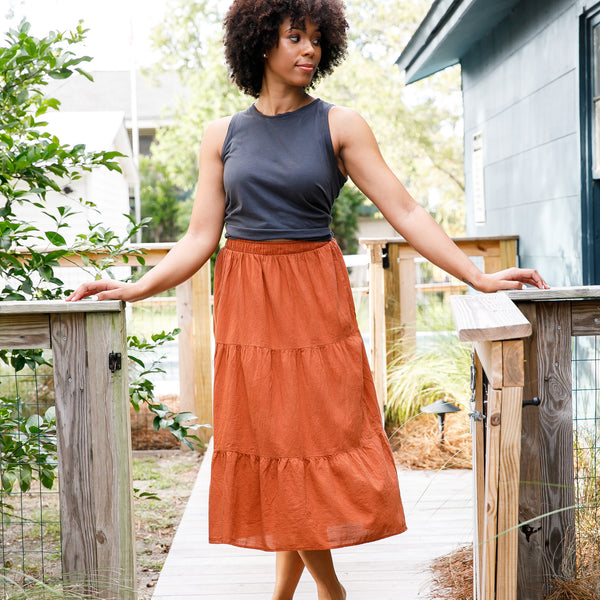 SAVANNAH SKIRT | clay