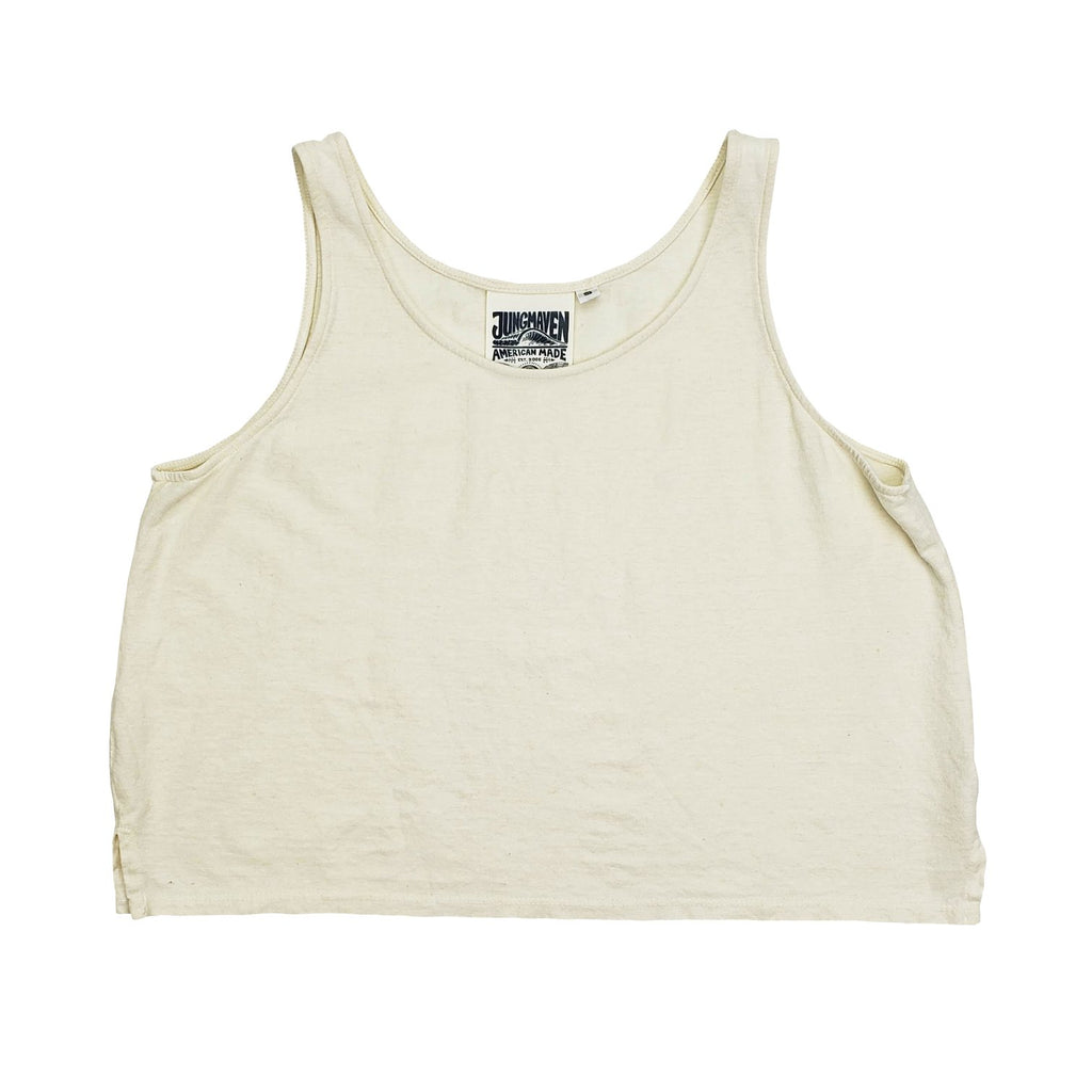 Jungmaven | CROPPED TANK | washed white
