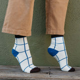 Mollusk | WINDOWPANE SOCK | nippon blue