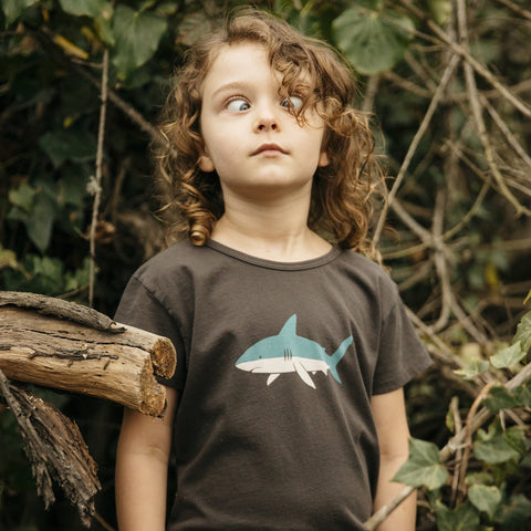 Mollusk | BABY SHARK TEE | faded black
