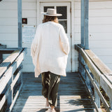 LONG SWEATER COAT | natural