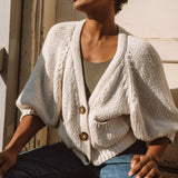 CROPPED CARDIGAN | natural