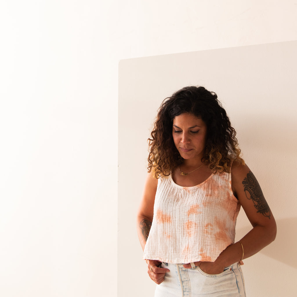 hand-dyed summer tank | organic cotton | blush