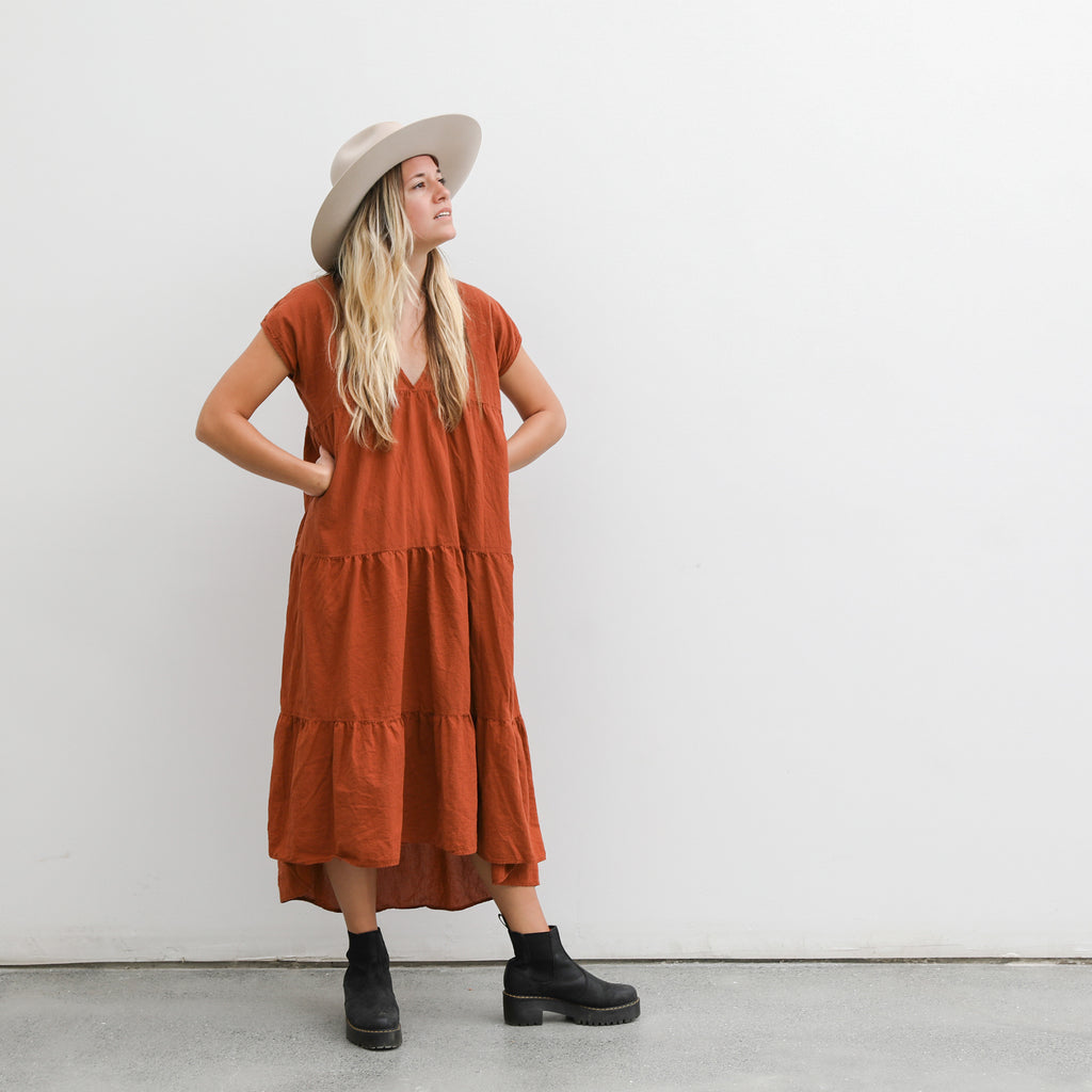 short sleeve savannah dress | clay