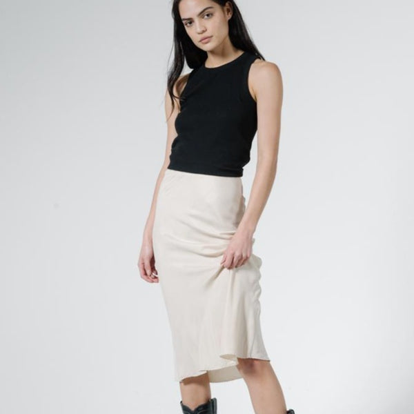 THRILLS | MANOR BIAS SKIRT | vintage bone