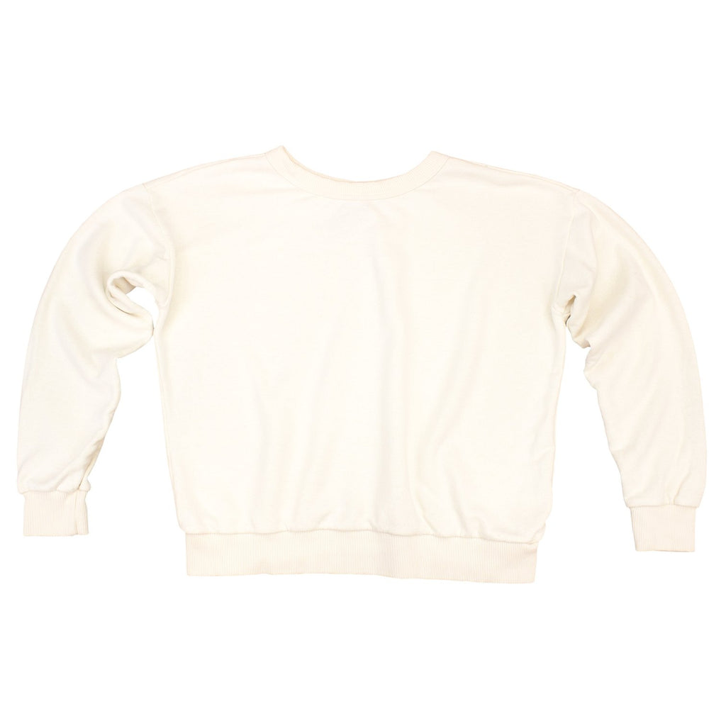 Jungmaven | YAKAMA CROPPED SWEATSHIRT | washed white