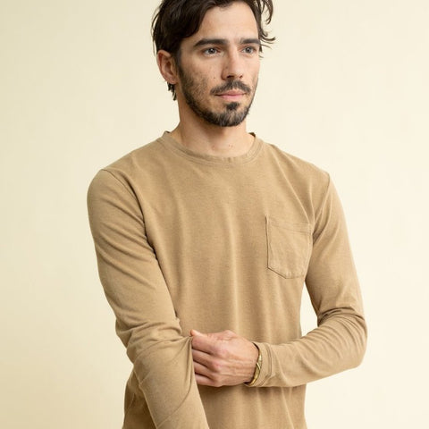 Jungmaven | BAJA long sleeve pocket tee | coyote