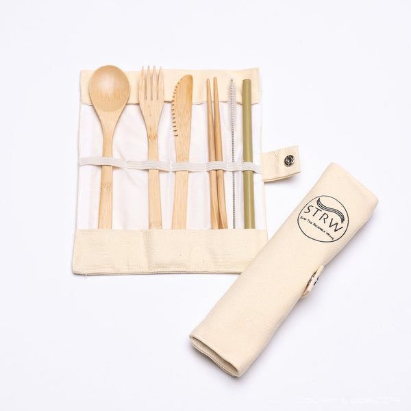 STRW | PORTABLE BAMBOO | cutlery set