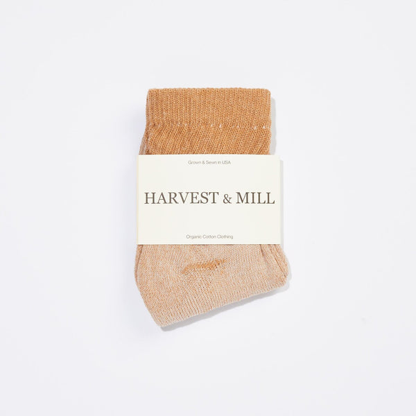 Harvest & Mill | ORGANIC ANKLE SOCK | brown