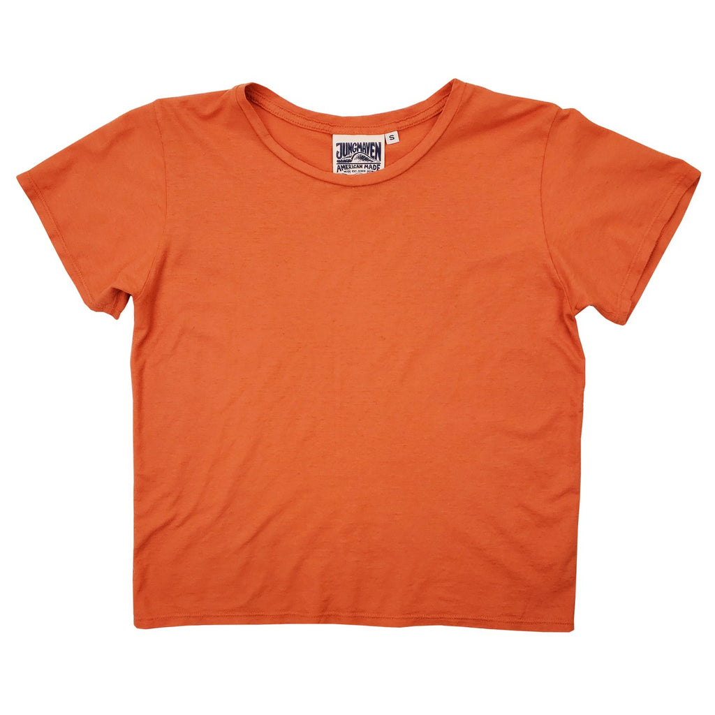 Jungmaven | CROPPED OJAI tee | autumn orange