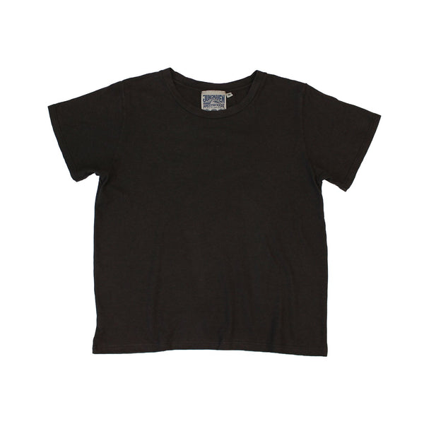 Jungmaven | CROPPED OJAI tee | espresso brown