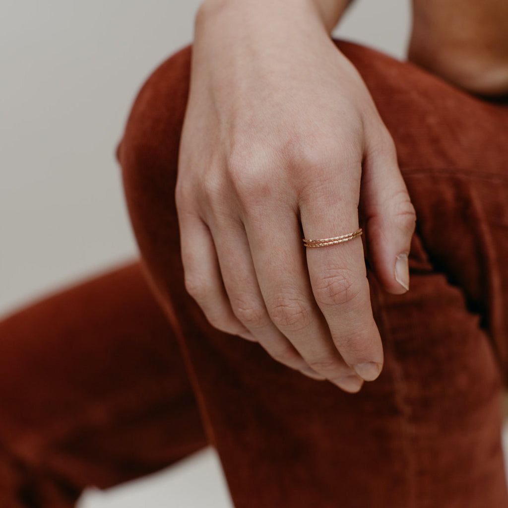 Tumble | TWIST STACKING RING | 14k gold fill