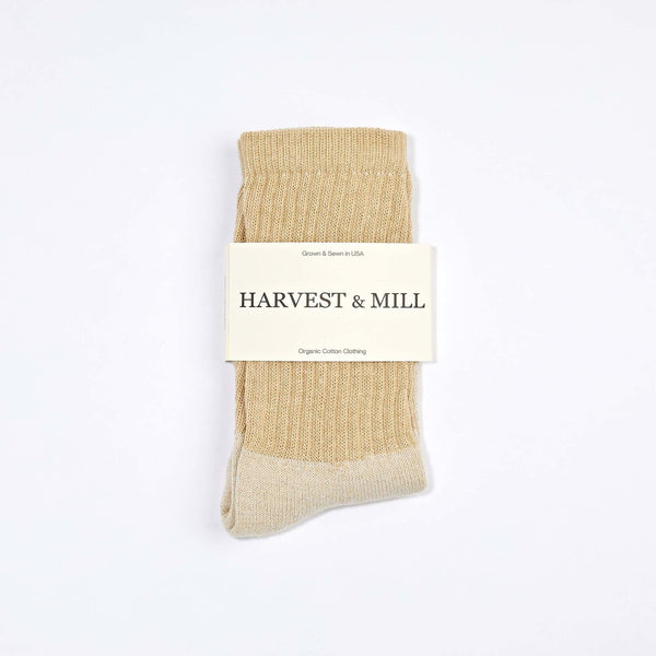 Harvest & Mill | ORGANIC CREW SOCK | brown