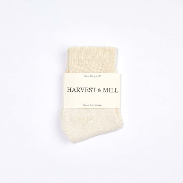 Harvest & Mill | ORGANIC ANKLE SOCK | natural white