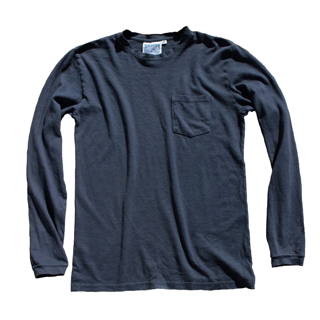 Jungmaven | BAJA long sleeve pocket tee | gray