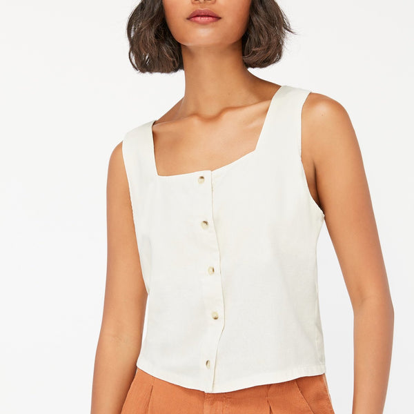 LACAUSA | LINNIE TOP | natural silk