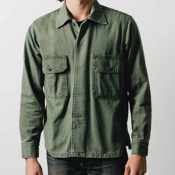 imogene + willie | MILITARY SHIRT JACKET | fatigue green