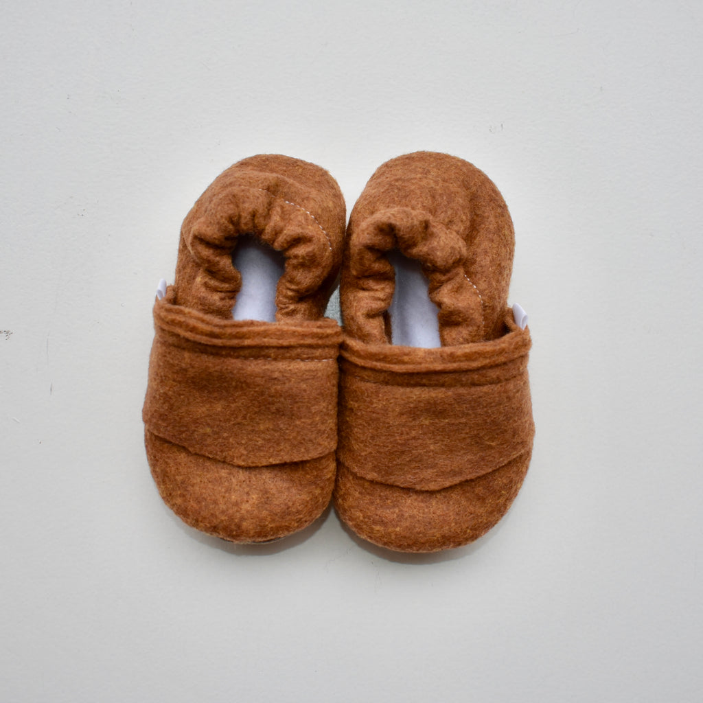 TBMS Baby Moccasins | copper felt