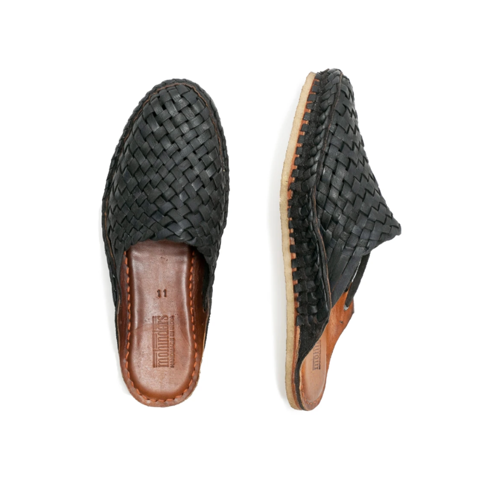 Mohinders | MEN'S CITY SLIPPER | woven iron dyed