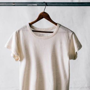 imogene + willie | LINEN COTTON ARCHIVE TEE | natural