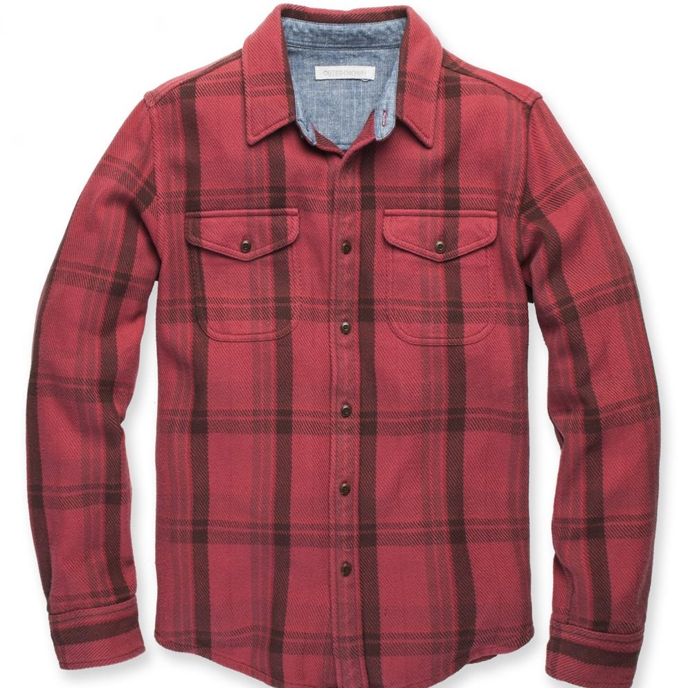 Outerknown | BLANKET shirt | dusty red cusco plaid