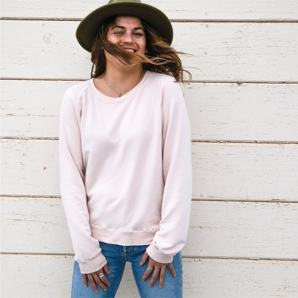 softest sweatshirt | dusty pink