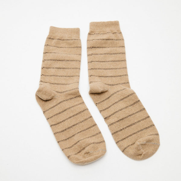 Mollusk | PIQUE STRIPE SOCK | natural