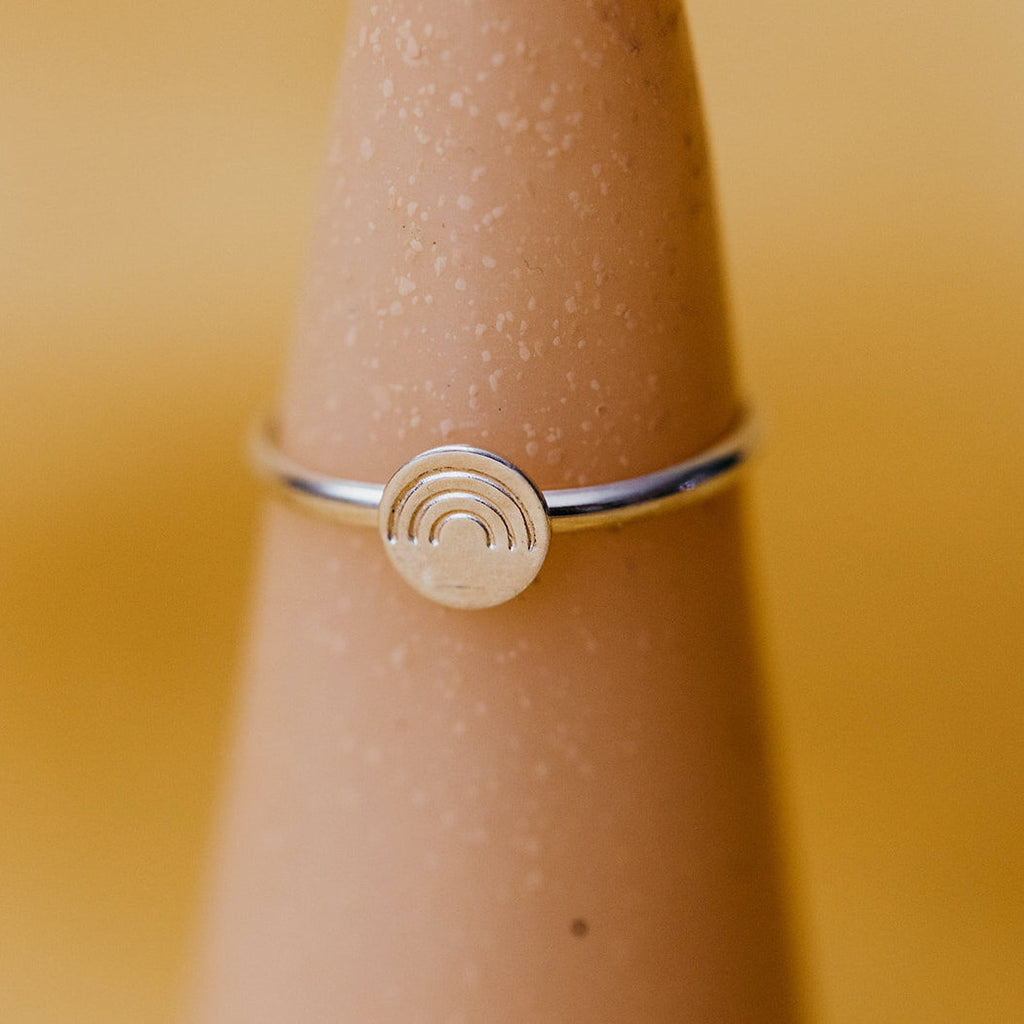 Tumble | SILVER STAMPED RING