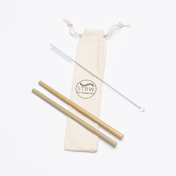 STRW | PORTABLE BAMBOO | reusable straw pack