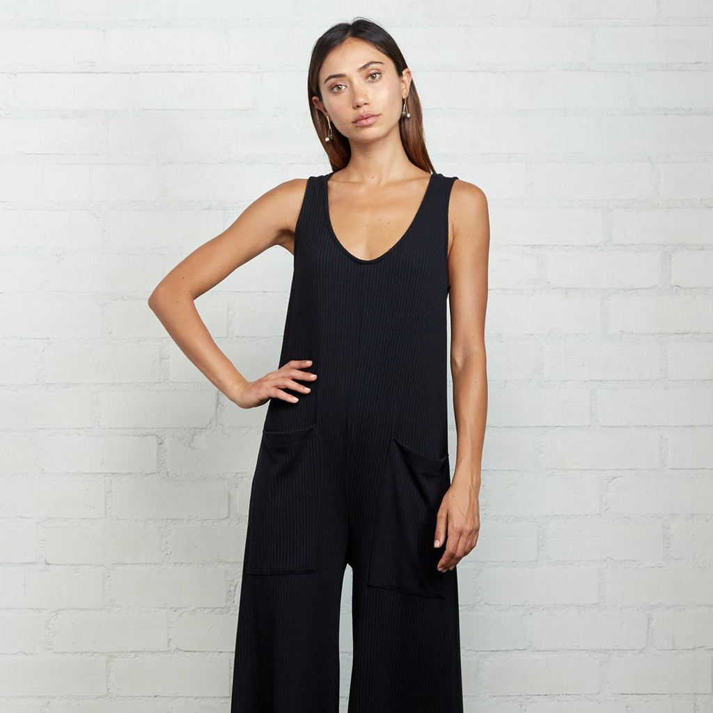 RACHEL PALLY | RIB REMMY JUMPSUIT | black