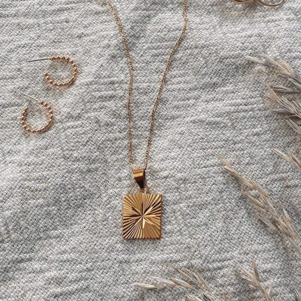 Tumble | STARBURST PENDANT NECKLACE | 14k gold fill