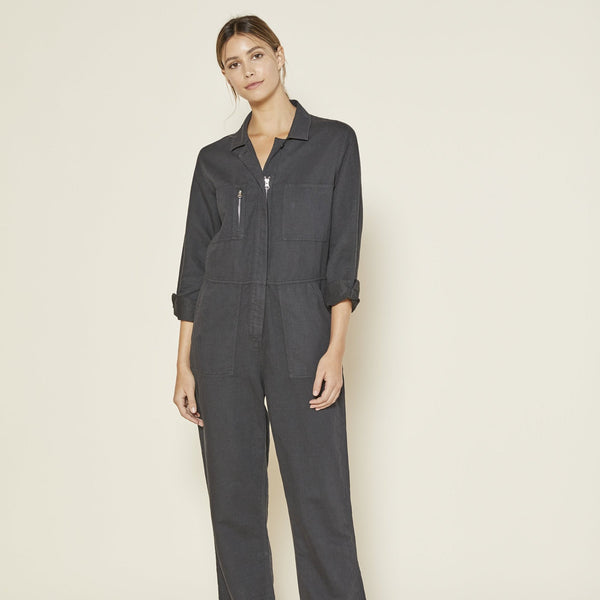 Outerknown | STATION JUMPSUIT | pitch black