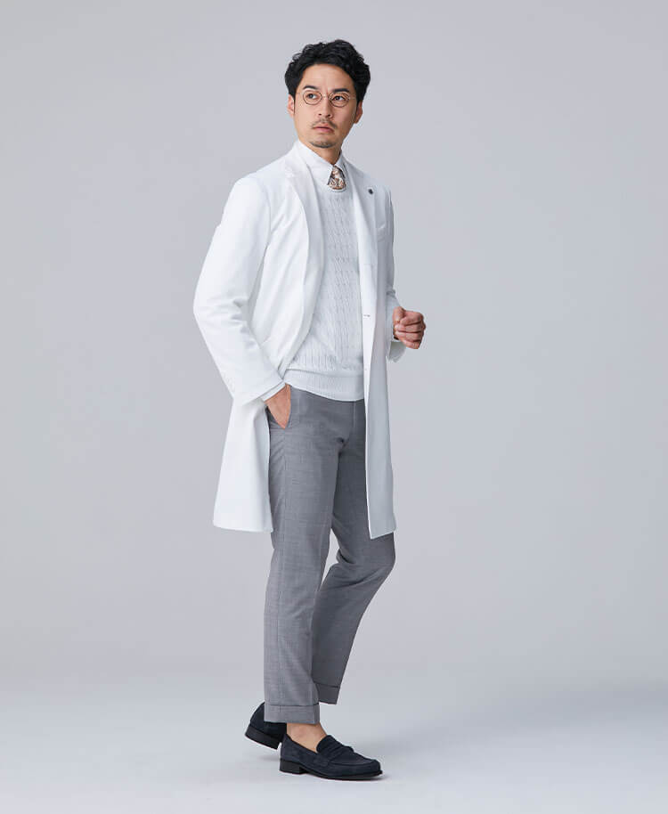 Men's Lab Coat: Classico Tailored Coat Cool Tech