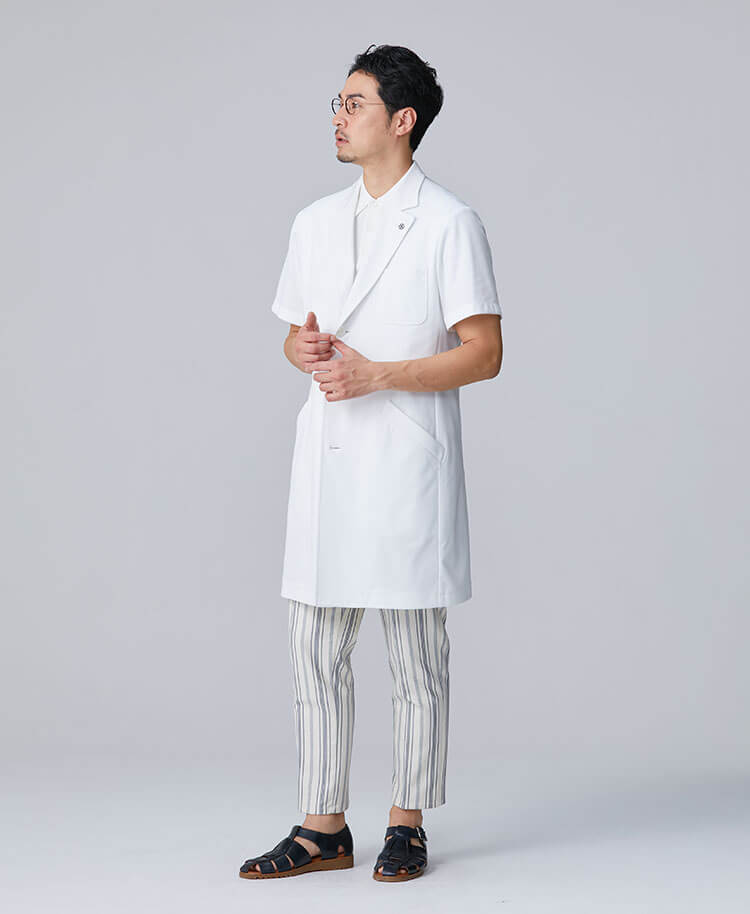 Men's Lab Coat: Short-Sleeve Coat Cool Tech