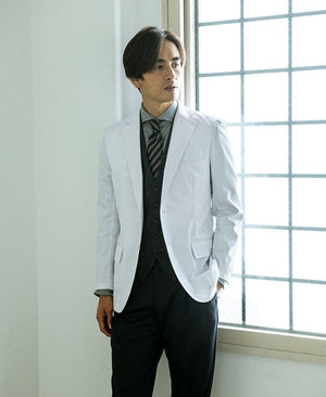 Classico Men`s Crafted Lab Jacket White