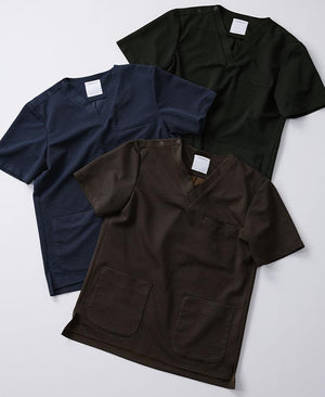 Men's Jacquard Scrub Tops