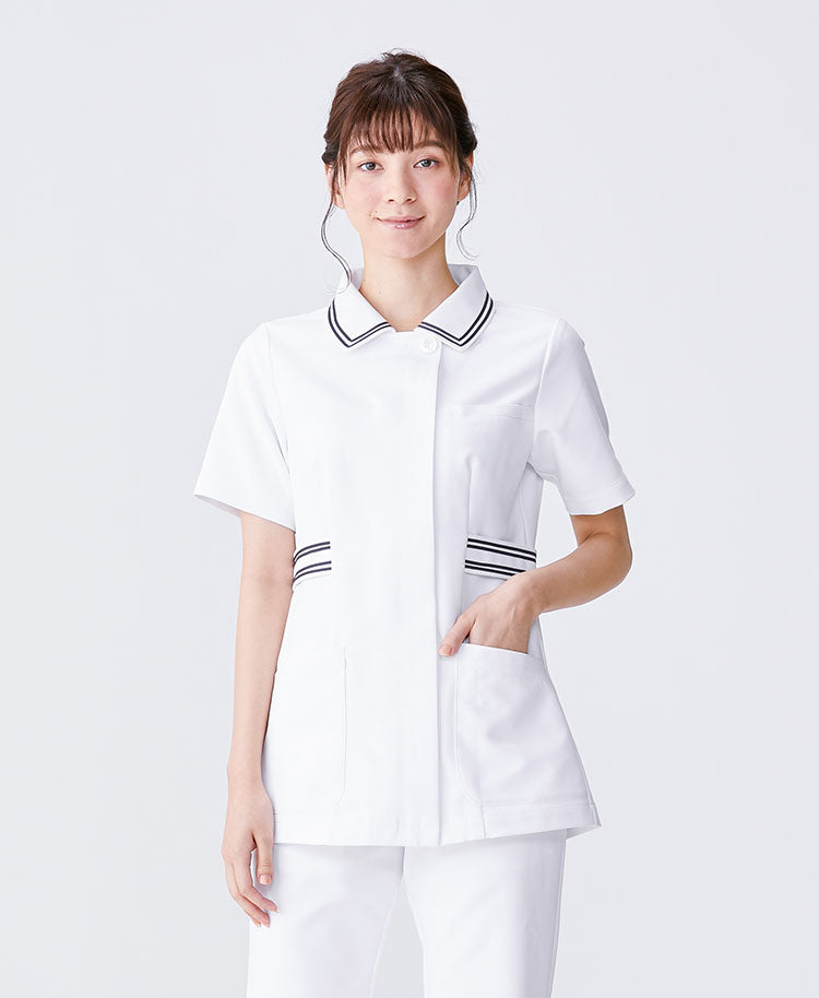 Classico Women`s Nurse Wear: Lined Collar Tops