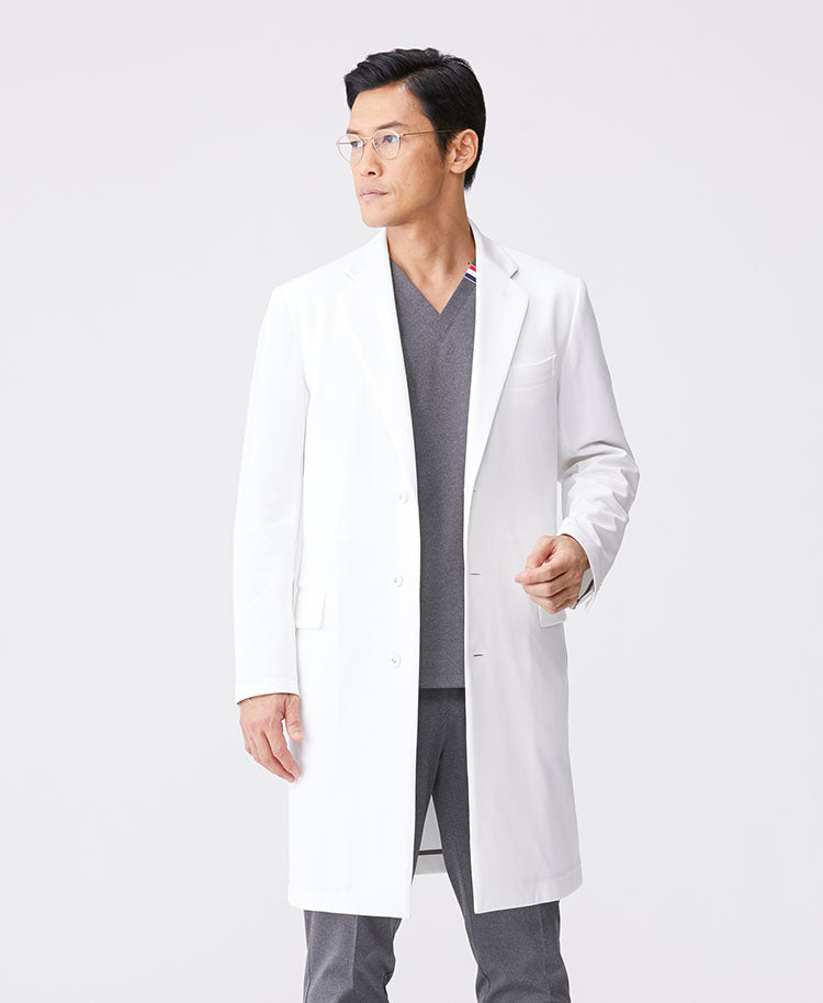 Classico Men's JERSEY LAB COAT LUXE White
