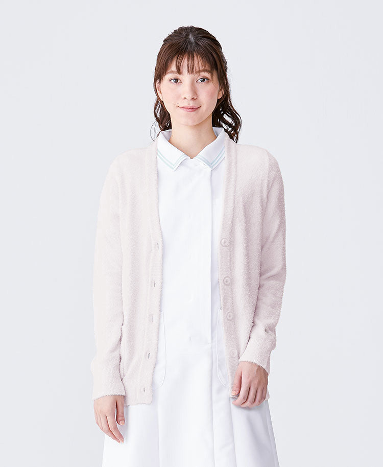 "Nurse Wear: Nylon ""Smoozy"" Nurse Cardigan"