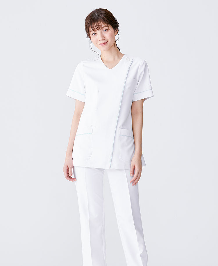 Classico Women`s Nurse Wear: Bias Bordered Scrubs