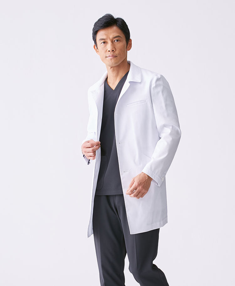 Classico Men`s Balmacaan Coat White