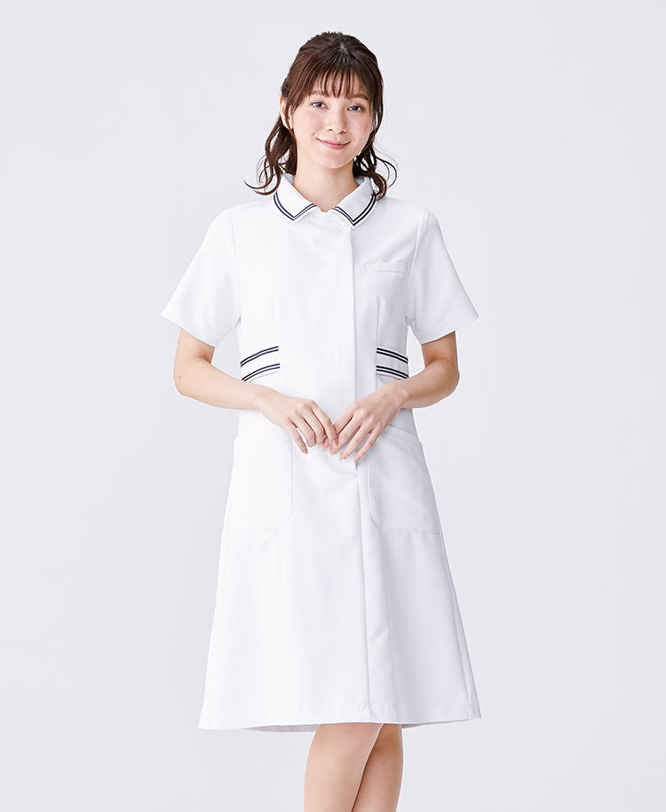 Classico Women`s Nurse Wear: Line Collar Dress