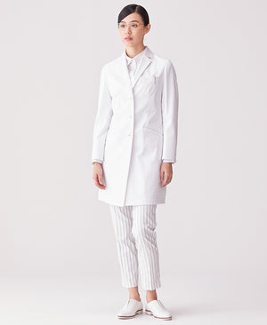 Classico Women's Crafted Lab Coat White
