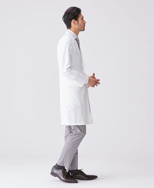 Men's Lab Coat: Jersey Peaked Lapel Coat LUXE