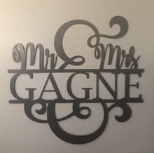 Load image into Gallery viewer, Mr & Mrs Monogram