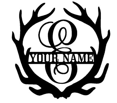 Antler Monogram with Last Name