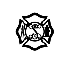 Load image into Gallery viewer, Fireman Door Hanger (Maltese Cross)
