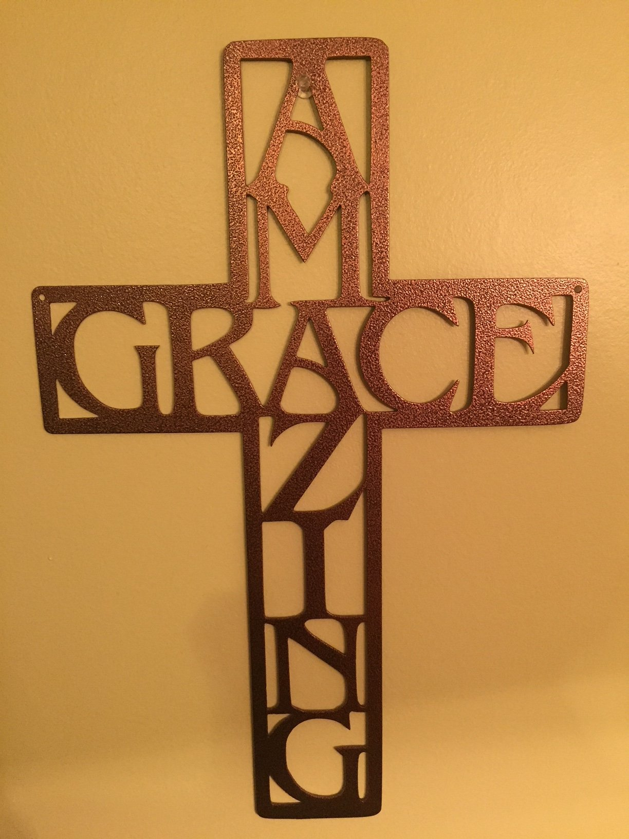 Amazing Grace Cross Metal Arc Steel Wall Art H H Decor And More
