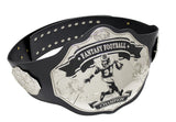 Fantasy Football Championship Belt Trophy Black Silver Undisputed Belts
